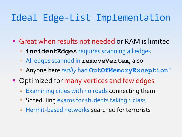 Ideal Edge-List Implementation