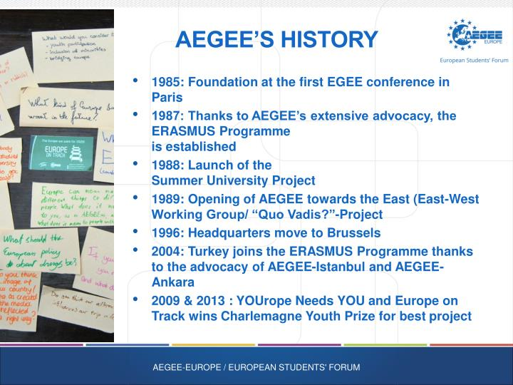 AEGEE's History