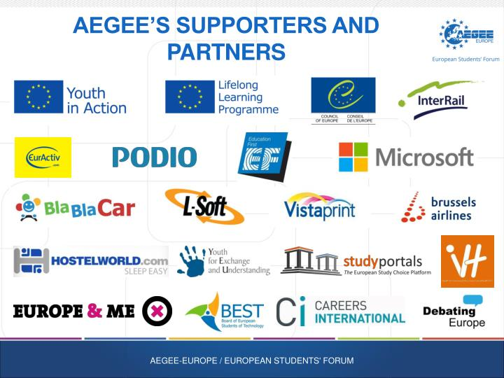 AEGEE's Supporters and Partners