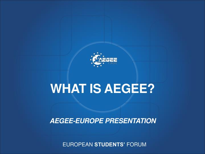 What is aegee