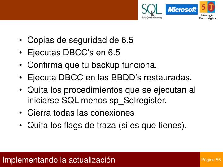 Copias de seguridad de 6.5