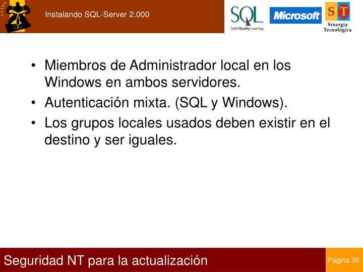 Instalando SQL-Server 2.000