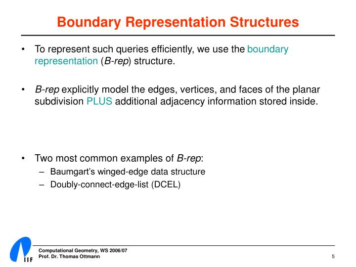 Boundary Representation Structures