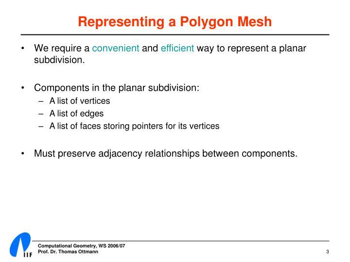 Representing a Polygon Mesh