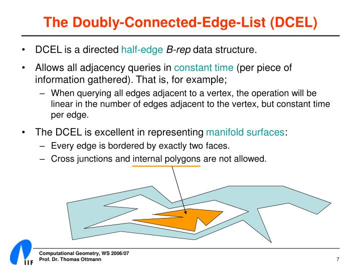 The Doubly-Connected-Edge-List (DCEL)