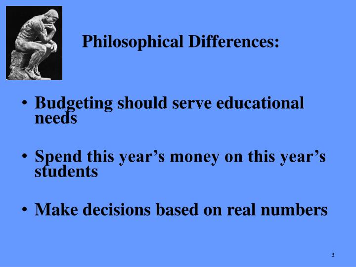 Philosophical Differences:
