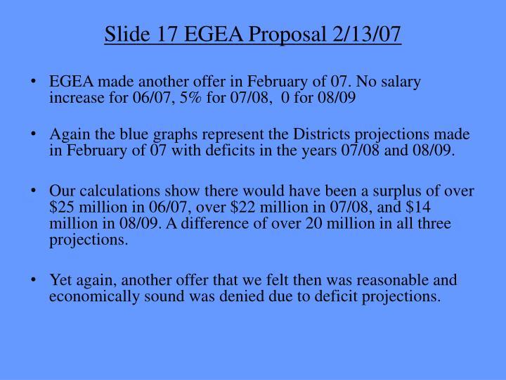 Slide 17 EGEA Proposal 2/13/07