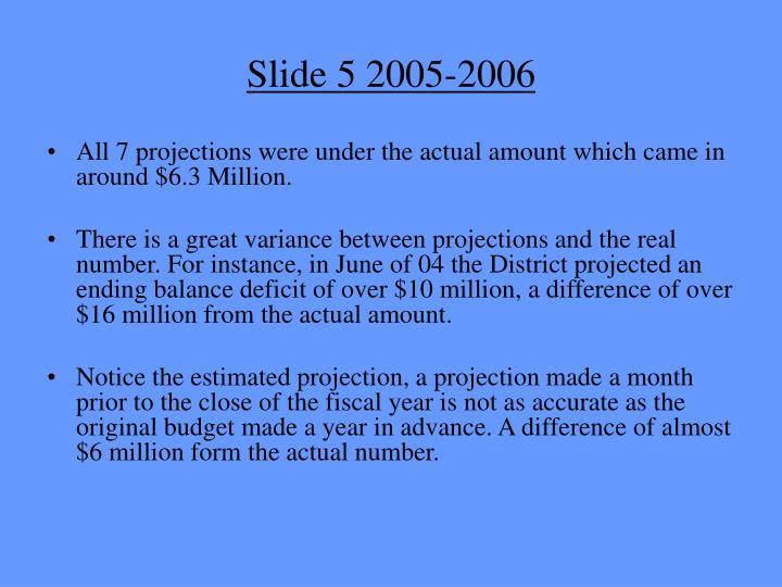 Slide 5 2005-2006