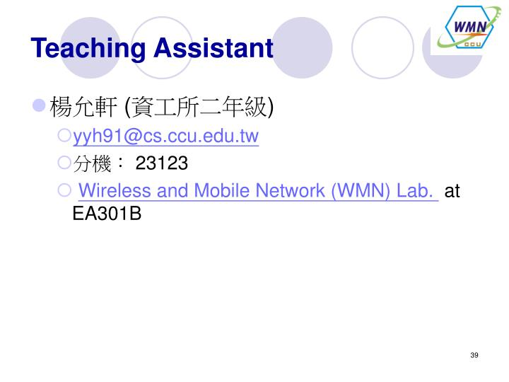 Teaching Assistant