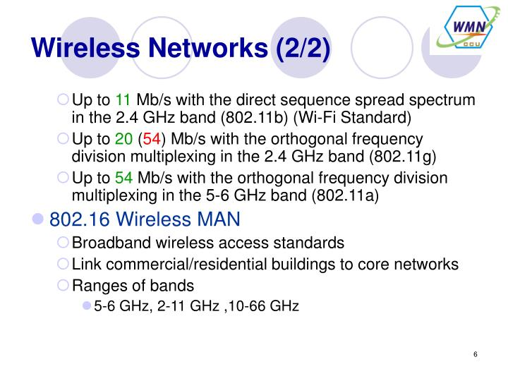 Wireless Networks (2/2)