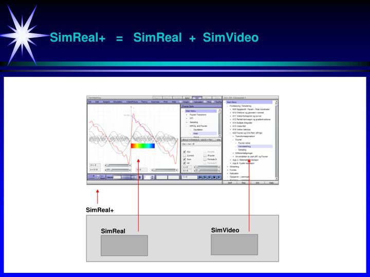 SimReal+   =   SimReal  +  SimVideo