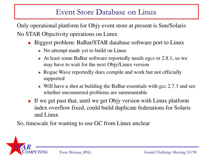 Event Store Database on Linux