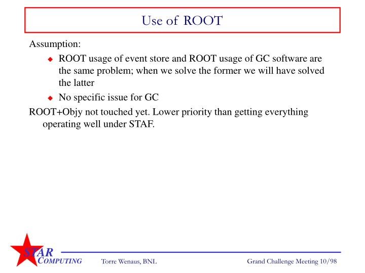 Use of ROOT