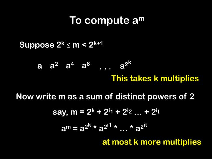 To compute a