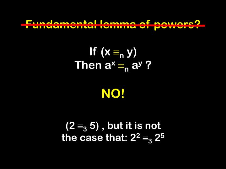 Fundamental lemma of powers?