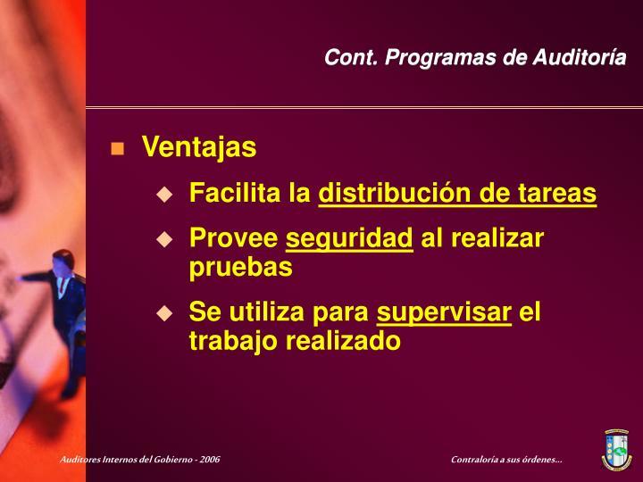 Cont. Programas de Auditoría
