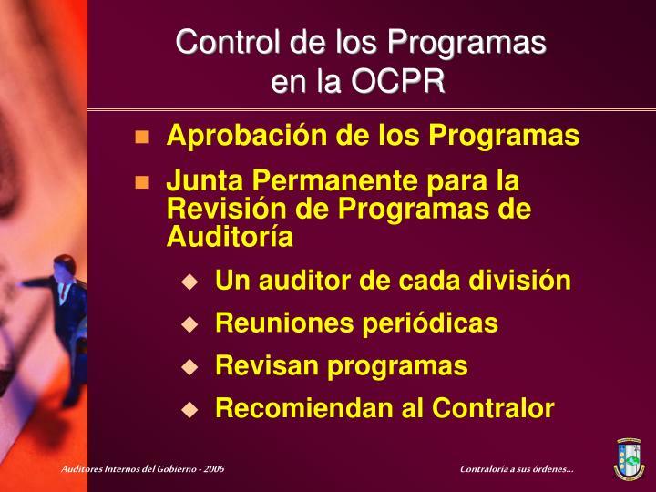Aprobación de los Programas