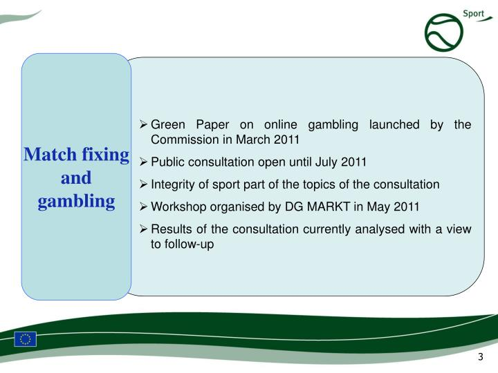 European commission gambling green paper casino license philadelphia