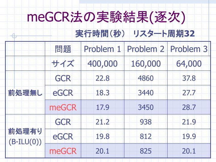 meGCR