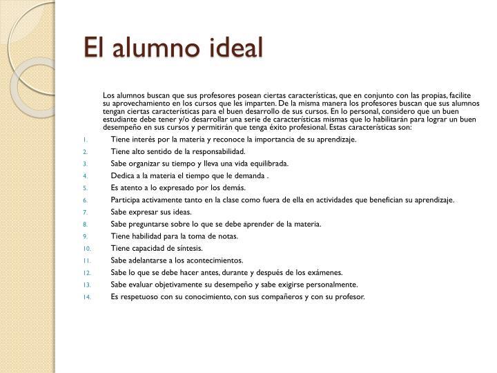 El alumno ideal