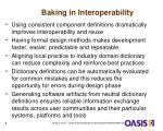 baking in interoperability
