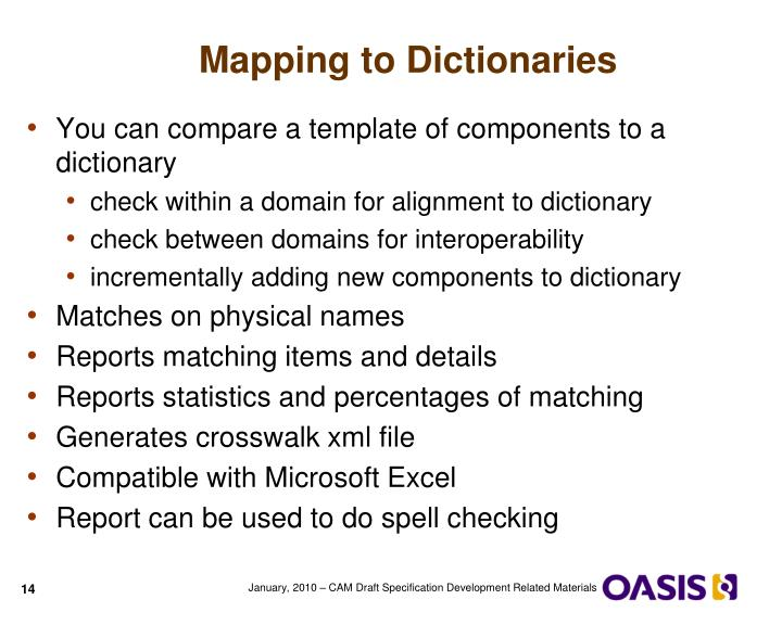 Mapping to Dictionaries