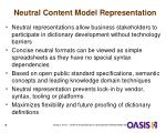 neutral content model representation
