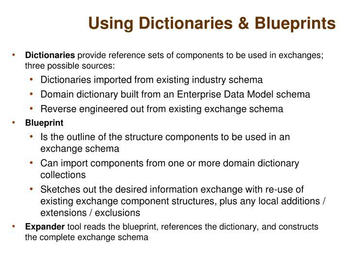 Using Dictionaries & Blueprints