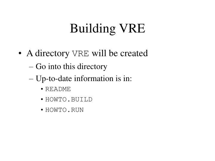 Building VRE