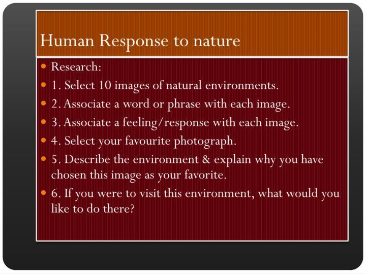 Human Response to nature