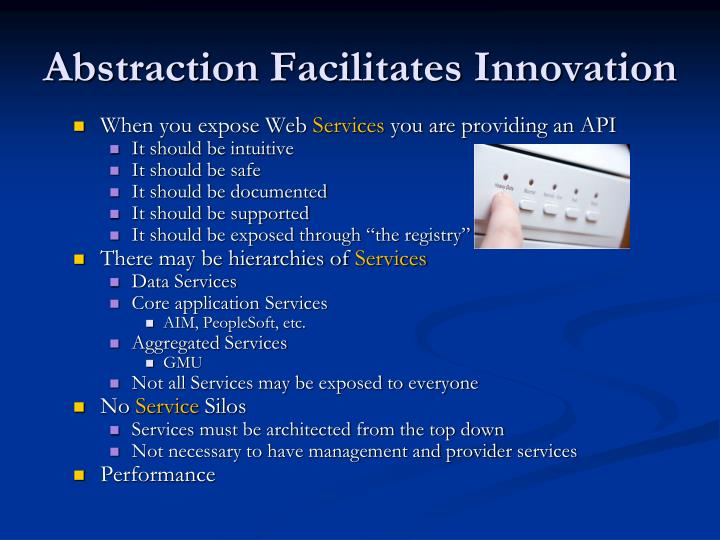 Abstraction Facilitates Innovation