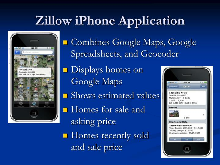 Zillow iPhone Application