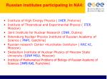 russian institutes participating in na4