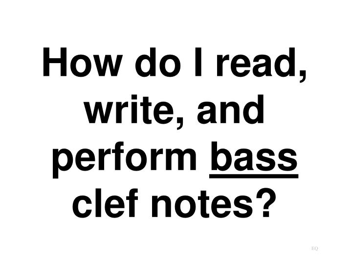 How do I read, write, and perform