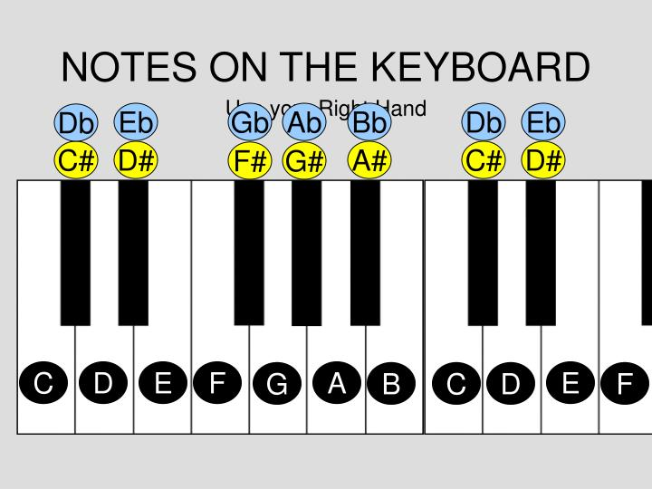 NOTES ON THE KEYBOARD