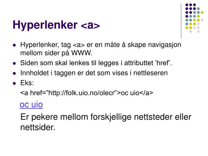 Hyperlenker <a>