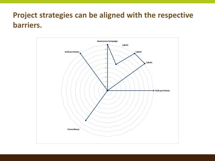 Project strategies can be aligned with the respective barriers.