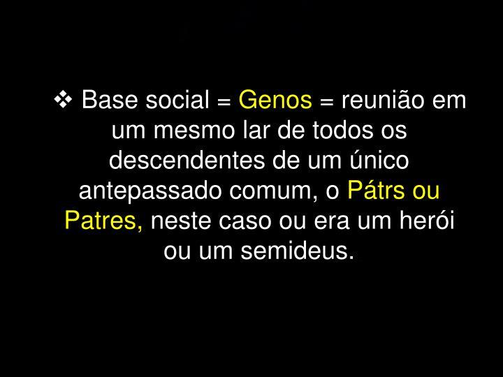 Base social =