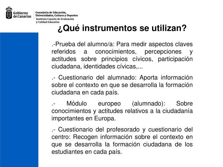 ¿Qué instrumentos se utilizan?