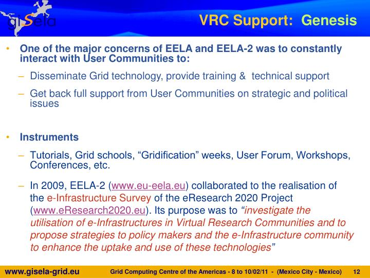 VRC Support: