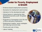 center for poverty employment growth