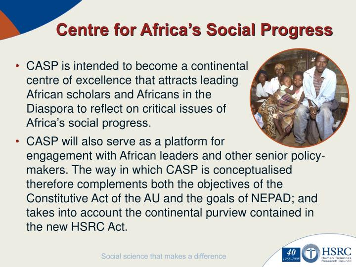 Centre for Africa's Social Progress