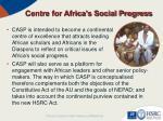 centre for africa s social progress