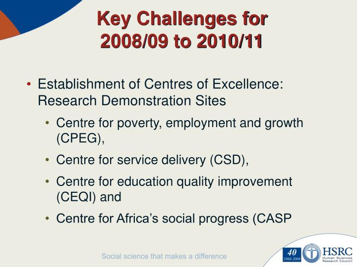 Key Challenges for