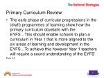 primary curriculum review