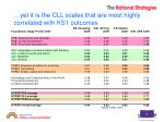yet it is the cll scales that are most highly correlated with ks1 outcomes