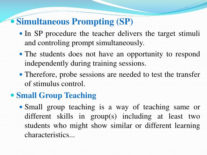 Simultaneous Prompting (SP)
