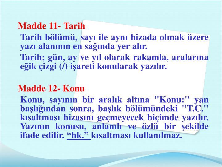 Madde 11-