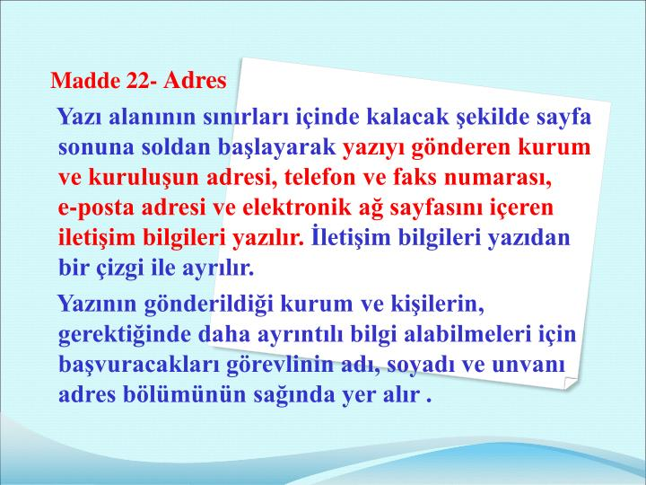 Madde 22-