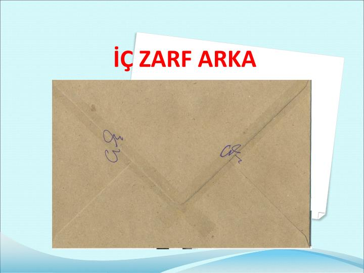 İÇ ZARF ARKA